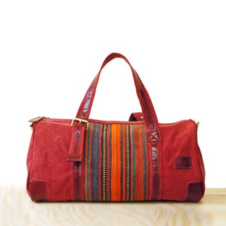 [Happa] will style bag - Belt Long put - hand-knotted kilim paragraph (Wine wine red) bulk bags to exchange gifts Required