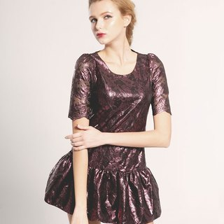 TwinkleCat hot Jin Leisi pretty purple short dress PARTY dress Galaxy Star