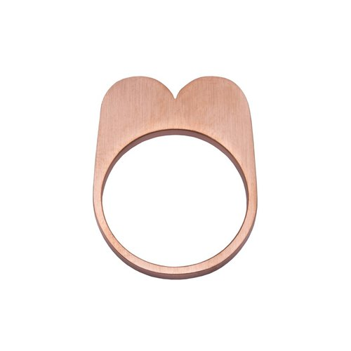 Hopy Heart Ring 316L Stainless Steel Rose gold M15RR S/M/L