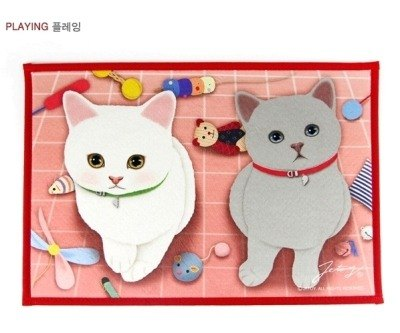 Jetoy, sweet cat slip Mats _Playing (J1507107)