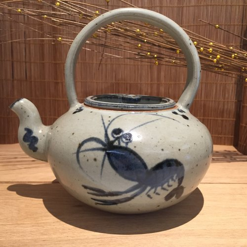 Many small teapot - Kiln Blue and White Series Chen Zhao teacher works