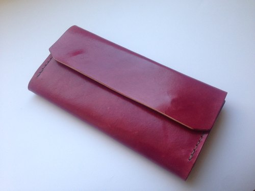 Original handmade leather long event folder