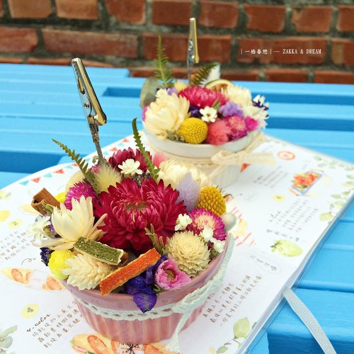 ❤ [Love fruit tower ─ ─ dessert cup cup memo folder] ❤ (in paragraph) dry flower wedding small wedding dress set birthday gift room
