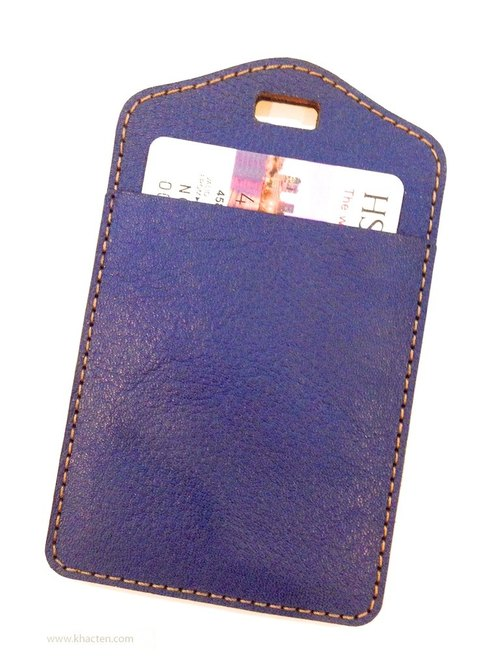 Leather Identification Card Holder