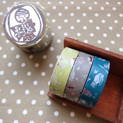 Kurashiki artistic conception and paper tape 3P [cat Yashiki 3 color set (45322-05)]