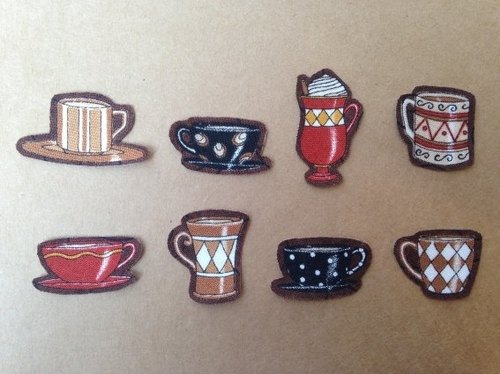 :: :: Cloth sticker sticker book collection ‧ tea cup set │abbiesee gift shop