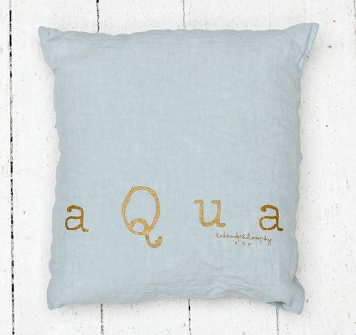 Bed and Philosophy - 100% linen pillow - Molly series (blue / 35x35cm)
