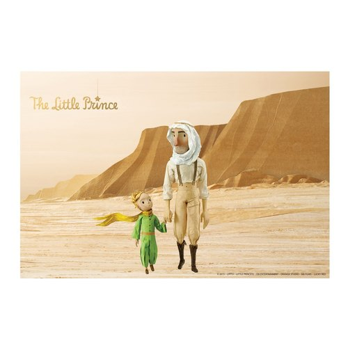 Little Prince Movie Version authorized - frameless picture: [the way] 60 * 80cm hand in hand