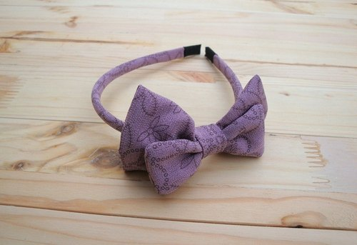 Fine edition printing double bow hair bands