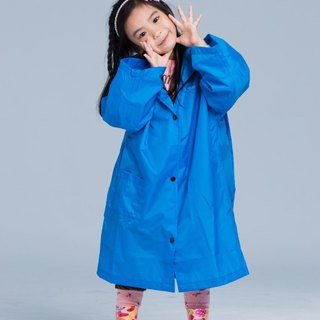 [Paris Rainbow] before the French Open reflective coveralls children raincoat / fresh blue