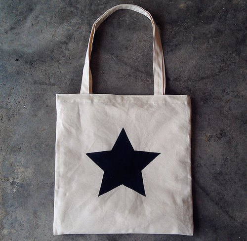 [Little Black Star] TCThandmade fingerprints cotton bags shoulder bag / bags / bag