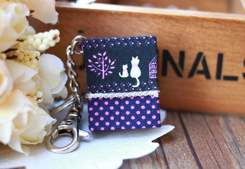 [Mini with this - matchbox size key ring] -P02 subsection (love last - dark blue background) / birthday / graduation gift / Valentine's Day / Mother's Day / customized gift