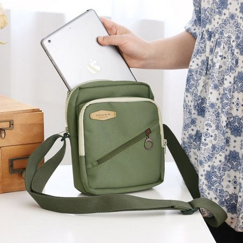 Dessin x iconic- travel sky thick toast shoulder bag V2- khaki green, ICO83986