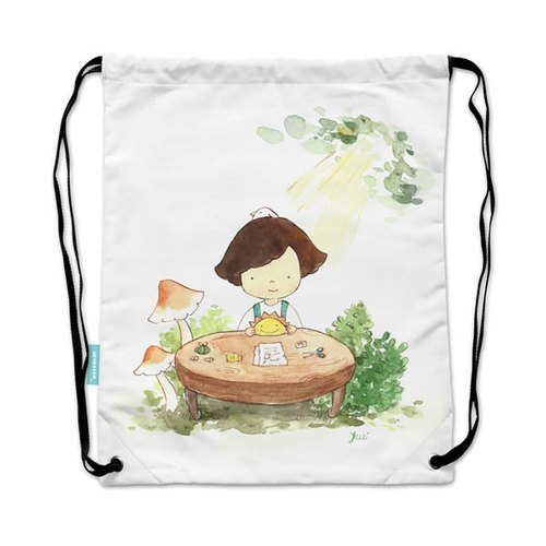 Drawstring backpack glimmer illustration molecule day [sun]