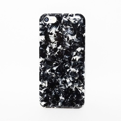 Pastoral Series l l extreme black and white hand-painted oil painting style Phone Case