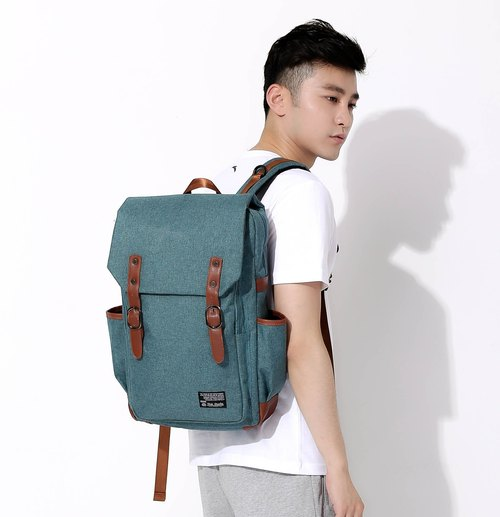 The Dude Backpack Korea minimalist style green campus