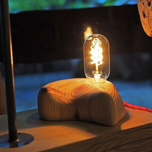 """CL Studio"" [Nordic wood hand-made cypress Lighting Nightlight] / S-22"