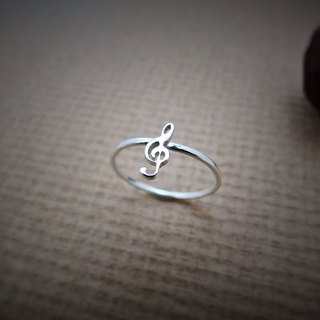Little Note Series – Treble clef (925 sterling silver ring) - C percent jewelry