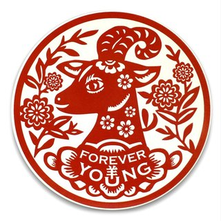 「Forever Young 青春羊」陶瓷吸水杯墊 Forever Young Coaster (goat)