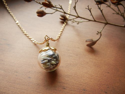 *coucoubird*slightly fragrant lavender flower necklace - chain