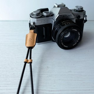 isni [camera wrist strap / leather rope ] retro yellow color /simple & safety design