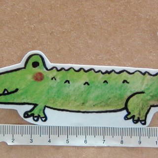 Hand-drawn illustration style completely waterproof sticker crocodile
