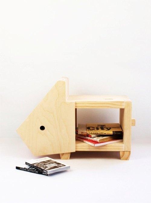 木匠兄妹設計款家具-兔子椅凳