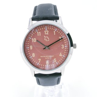 [UNI BASIC] Japanese military wind wrist watch (brown red)