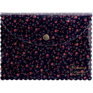 [Japanese] Frill LABCLIP Series multifunction pouch (button) / navy