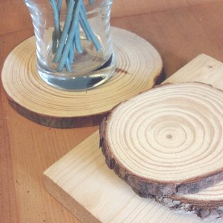 Wood coasters base (4 sets) exchange gift / gift graduation gift