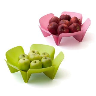 QUALY flower color fruit plate - 2 into the special group (green + green)