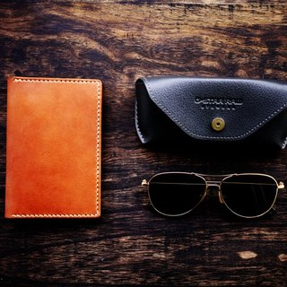 [Le Cuir] handmade leather passport holder pass sets / red brown
