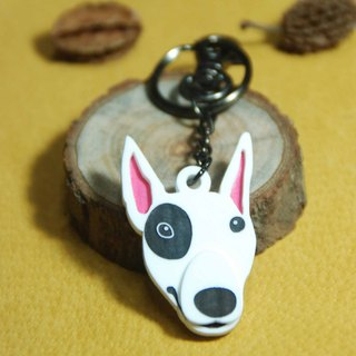 Mao children around key ring / Bull Terrier / cheap dog