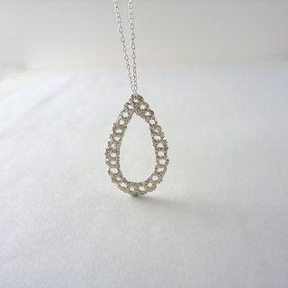 Lace Silver Necklace
