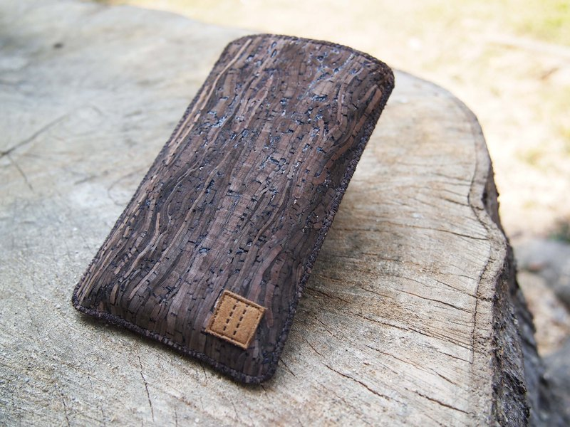 Paralife Custom Size Wooden Grain Cork phone pouch bag purse Sleeve