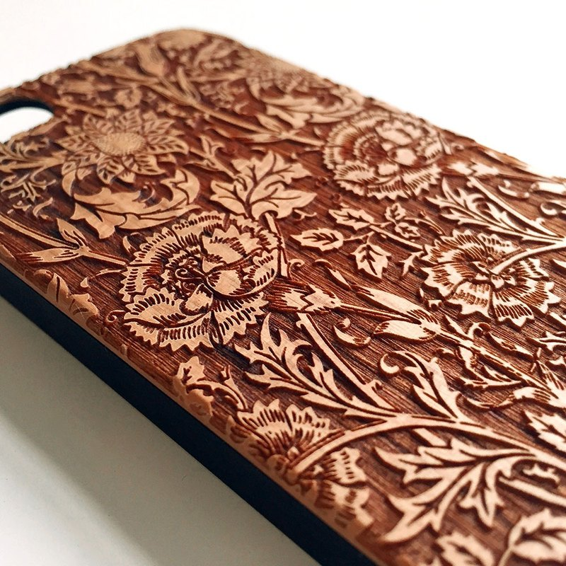 Real wood engraved iPhone SE / 6 / 6 Plus case 005
