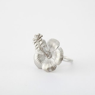 I-Shan13 | Shan Mo flowers and birds series / small hibiscus ring
