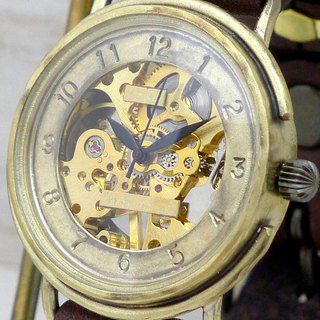 Handmade watch HandCraftWatch hand-rolled Brass JUMBO BHW059 SV / BK