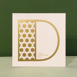 Bronzing letter card envelope sticker set -D