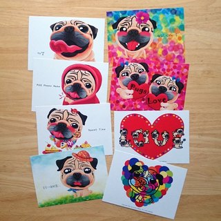 Postcard-Draw My Pug Life (Part.4)