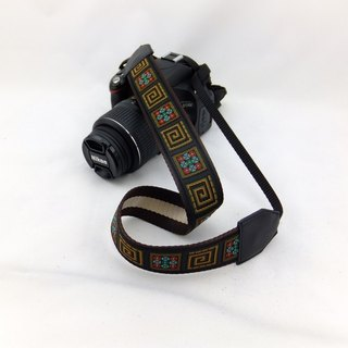 Camera strap can print personalized custom leather stitching national wind embroidery pattern 011