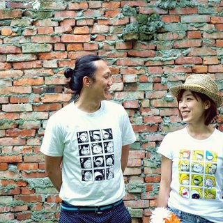 ‧ cotton with male / female short T