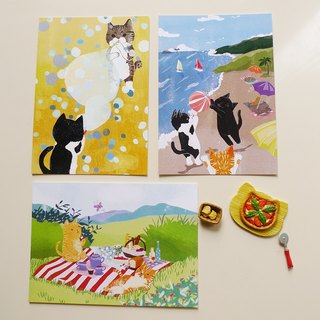 Postcard kits - cat outdoors