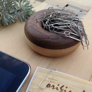 [Original wood] work desk good partner _ back mosquito needle / dovetail clip storage / magnetic donut