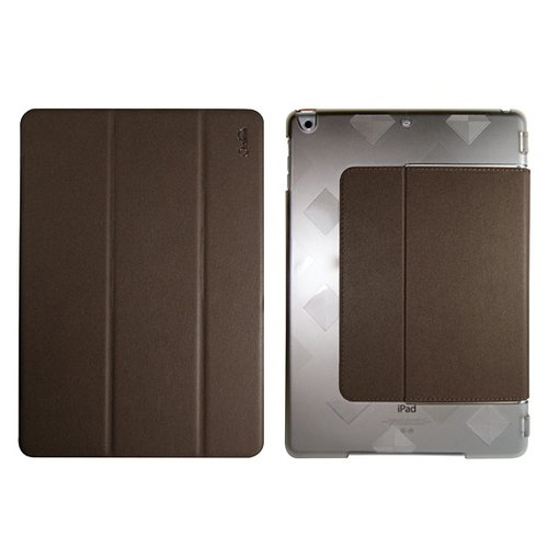 Optima iPad 2018/17 tannin plate protective shell coffee