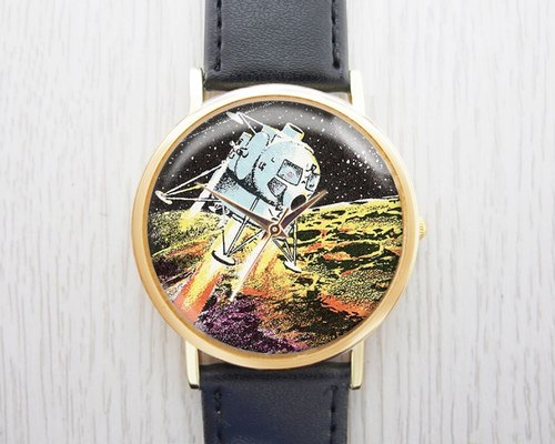 Landed on the moon - Fashion Watch leather strap ︱ ︱ ︱ men and popular pieces to wear with the best holiday gift