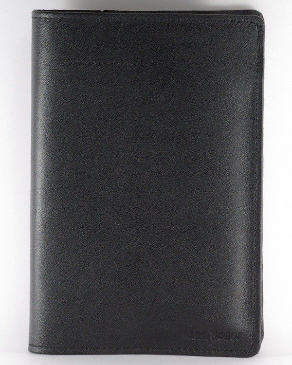Passport Holder Passport Case Cowhide Leather Leather Dark Black Simple Soft Leather Custom Lettering Service