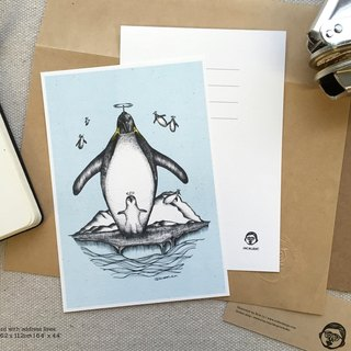 Flying Penguins - artwork available in Greeting Card