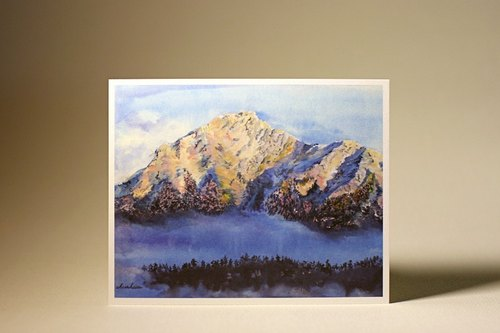 Chilai Mountain / Taiwan hand-painted postcard views Mr.Yo illustration