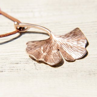 Valentine's Day gift / forest girl / hand-woven leather necklace - Ginkgo